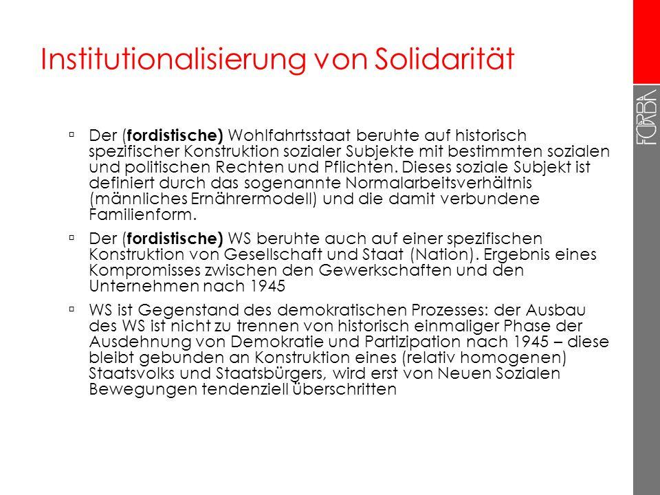 Institutionalisierung von Solidarität