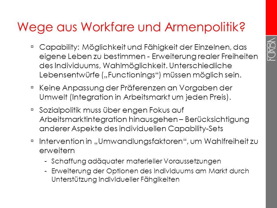 Wege aus Workfare und Armenpolitik