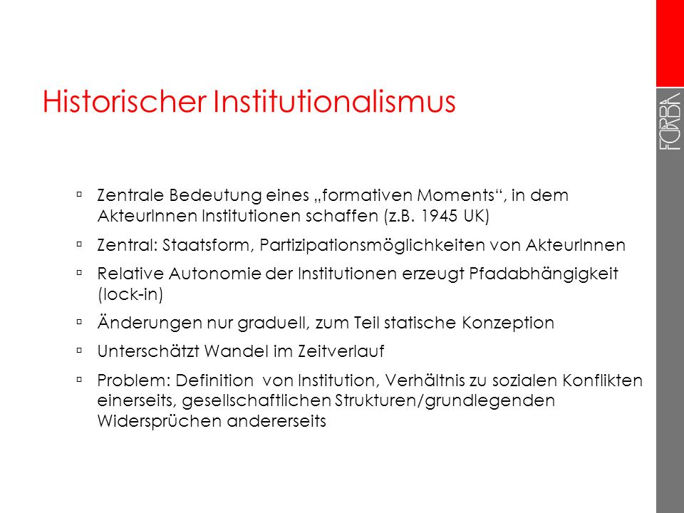 Historischer Institutionalismus