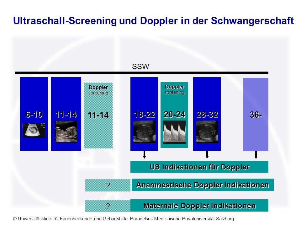 Ultraschall-Screening und Doppler in der Schwangerschaft