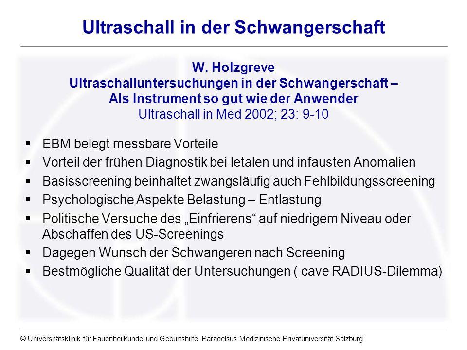 Ultraschall in der Schwangerschaft W