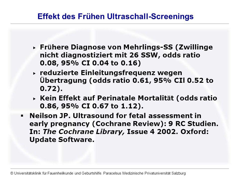 Effekt des Frühen Ultraschall-Screenings