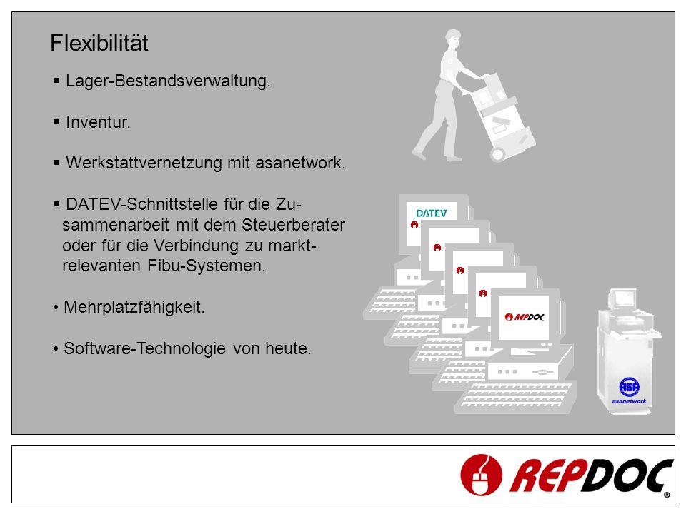 Flexibilität Lager-Bestandsverwaltung. Inventur.