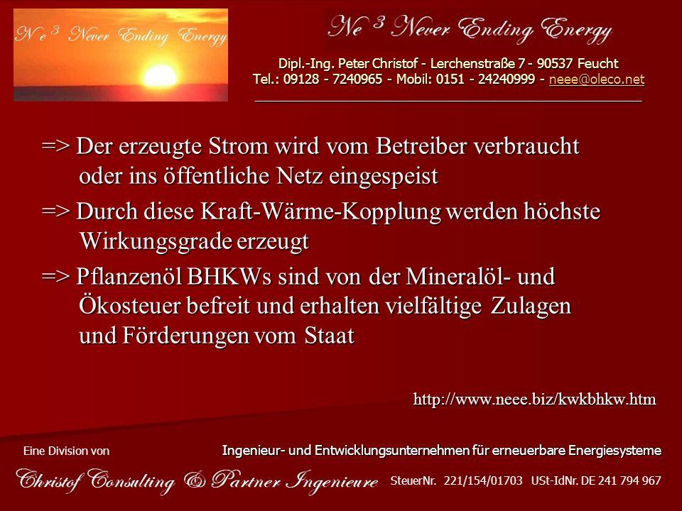Dipl. -Ing. Peter Christof - Lerchenstraße 7 - 90537 Feucht Tel