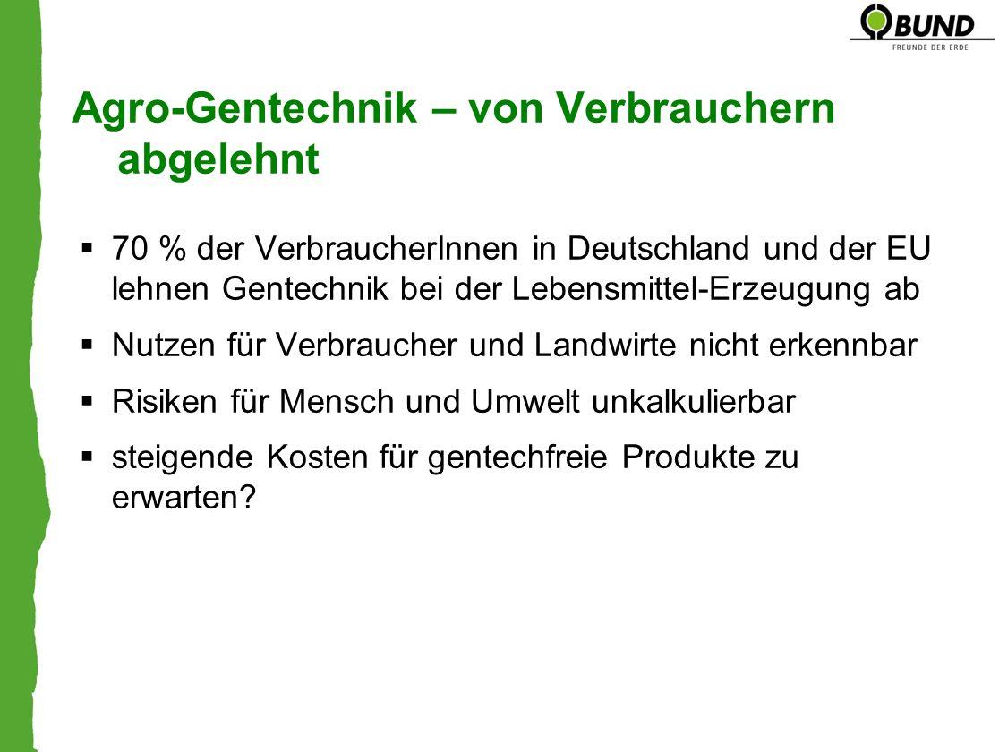 Agro-Gentechnik – von Verbrauchern abgelehnt