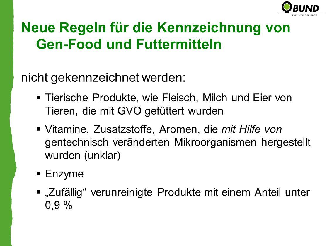 Neue Regeln für die Kennzeichnung von Gen-Food und Futtermitteln