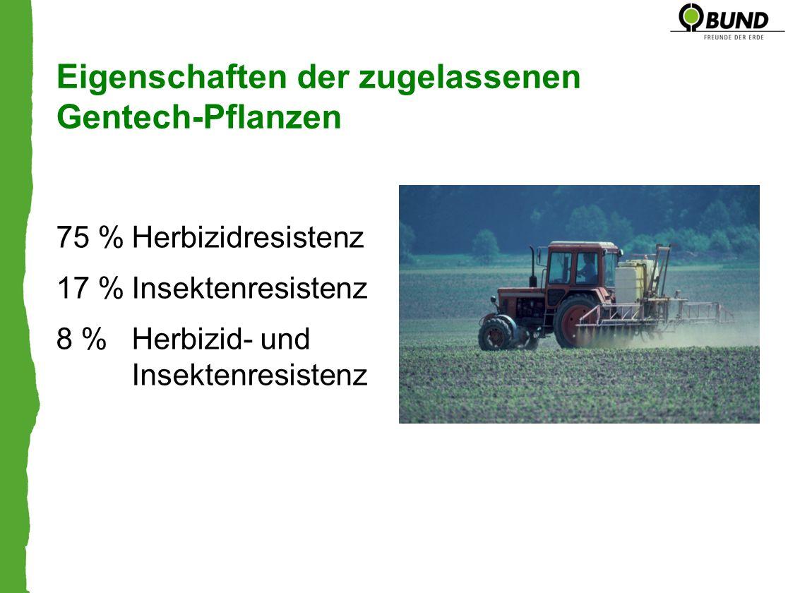 Eigenschaften der zugelassenen Gentech-Pflanzen