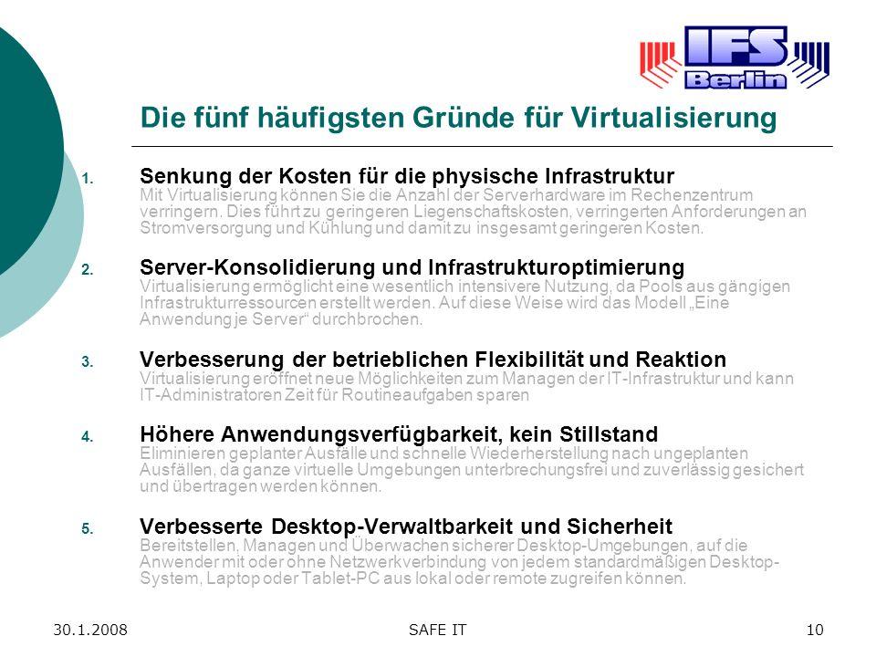 Die fünf häufigsten Gründe für Virtualisierung