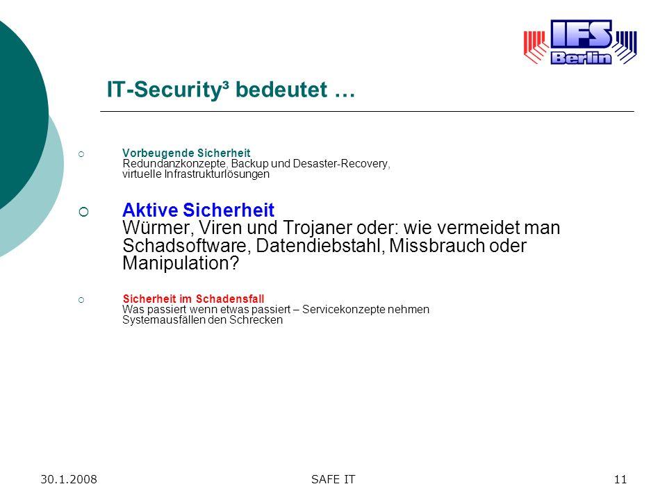 IT-Security³ bedeutet …