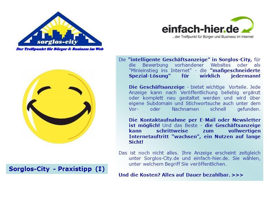 Sorglos-City - Praxistipp (I)