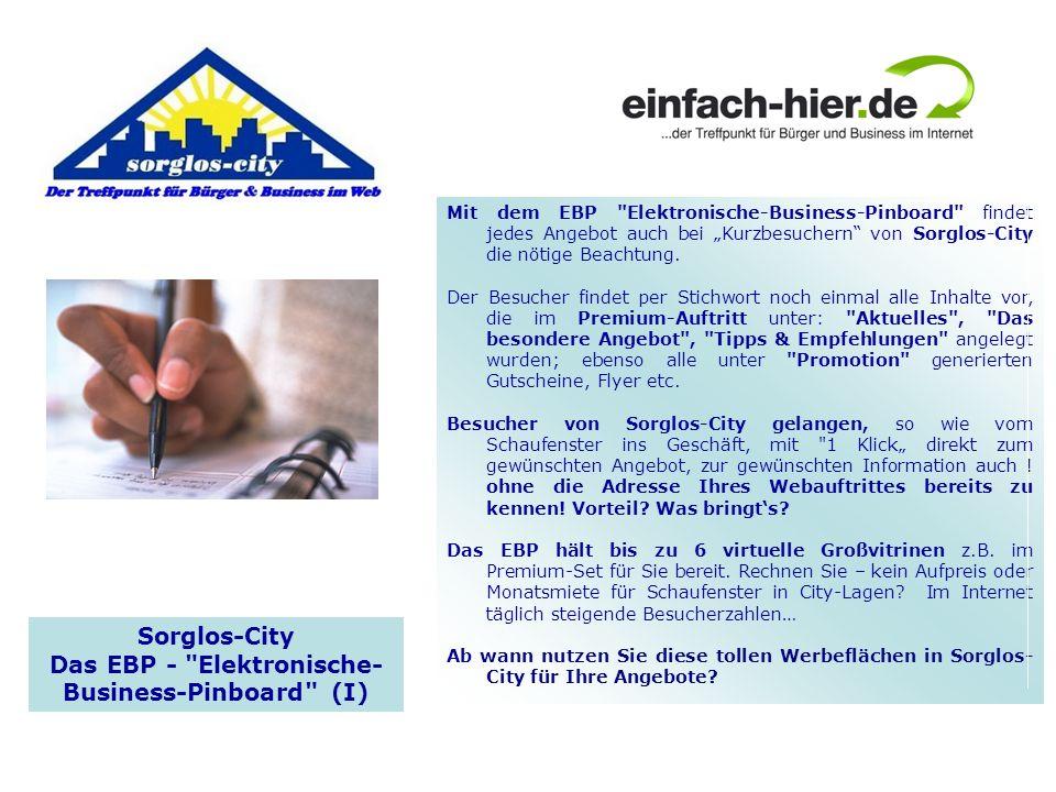Das EBP - Elektronische- Business-Pinboard (I)