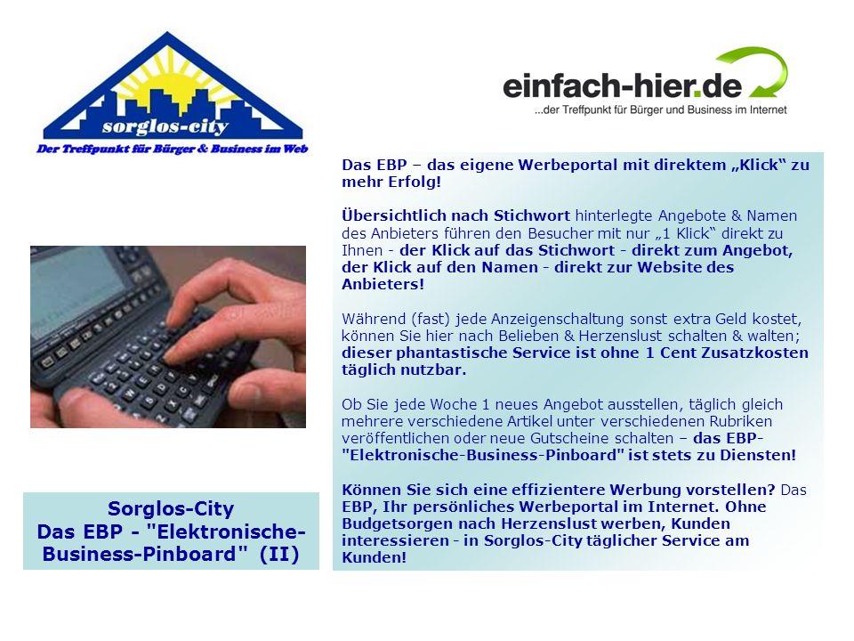 Das EBP - Elektronische- Business-Pinboard (II)