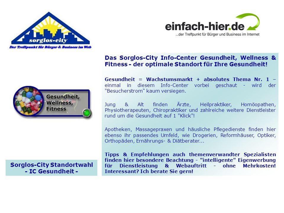 Sorglos-City Standortwahl - IC Gesundheit -