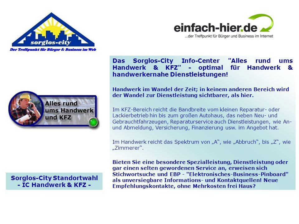 Sorglos-City Standortwahl - IC Handwerk & KFZ -