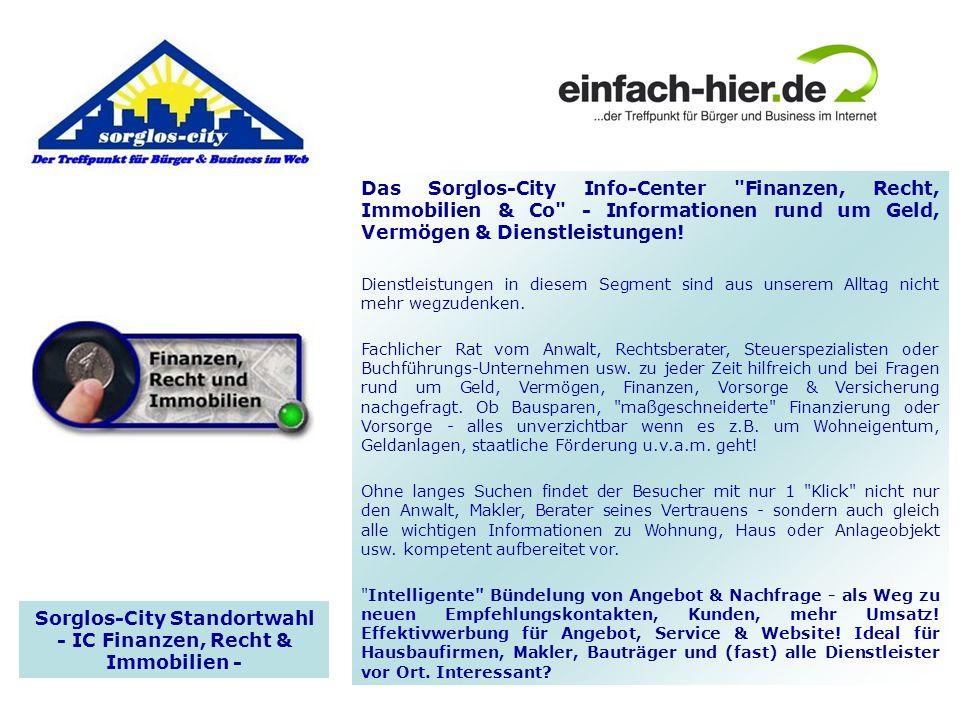 Sorglos-City Standortwahl - IC Finanzen, Recht & Immobilien -
