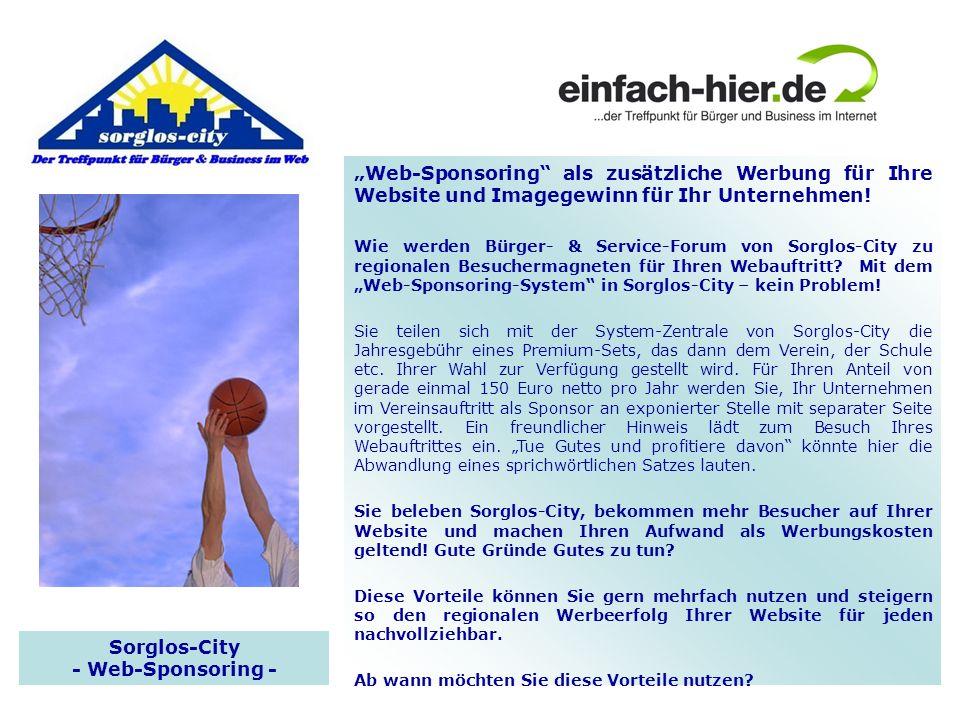 Sorglos-City - Web-Sponsoring -