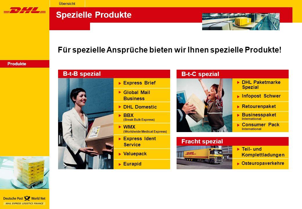 Übersicht Spezielle Produkte. Für spezielle Ansprüche bieten wir Ihnen spezielle Produkte! Produkte.