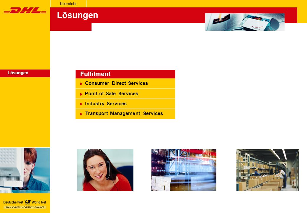 Lösungen Fulfilment Consumer Direct Services Point-of-Sale Services