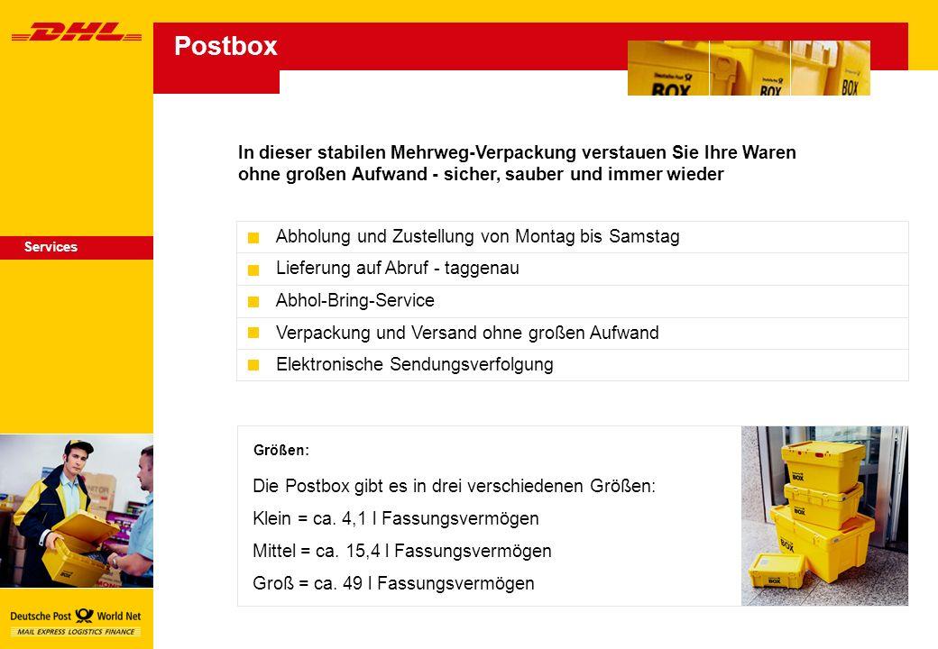 Postbox In dieser stabilen Mehrweg-Verpackung verstauen Sie Ihre Waren ohne großen Aufwand - sicher, sauber und immer wieder.