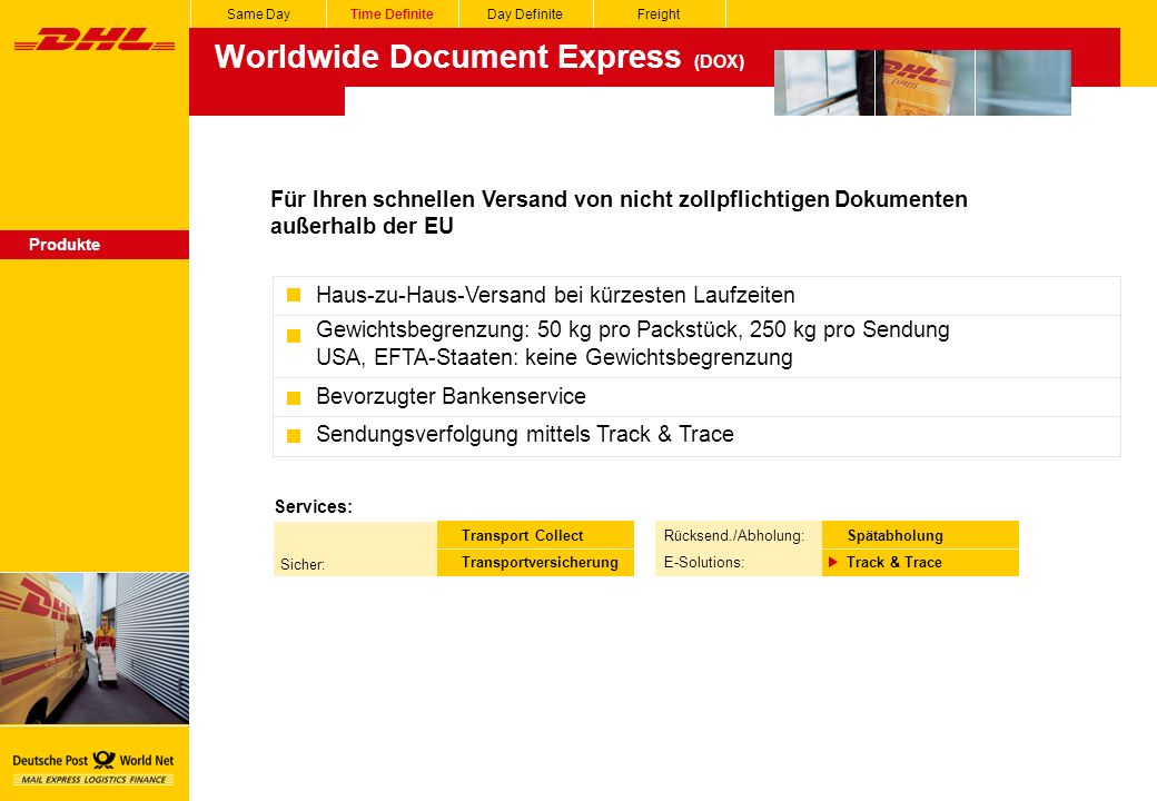 Worldwide Document Express (DOX)