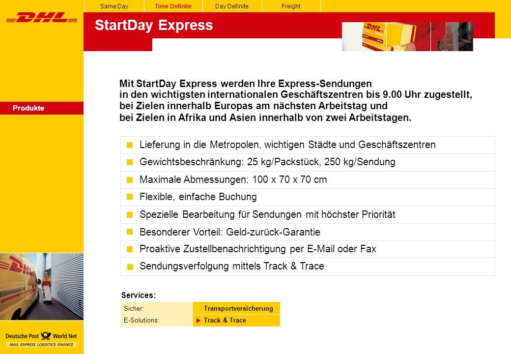 StartDay Express Mit StartDay Express werden Ihre Express-Sendungen