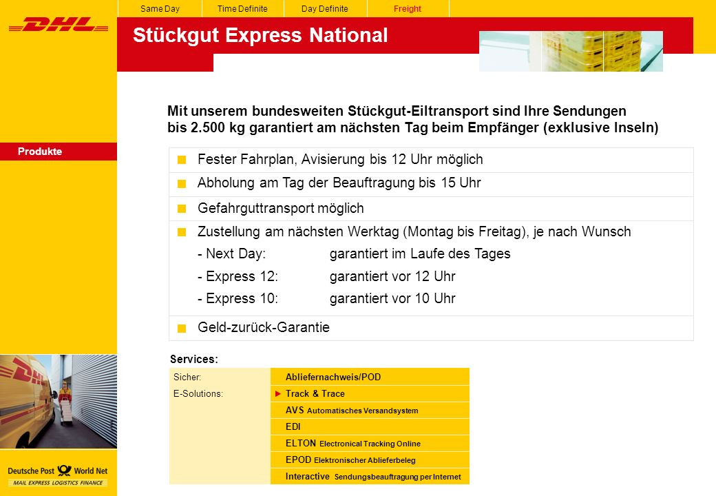 Stückgut Express National
