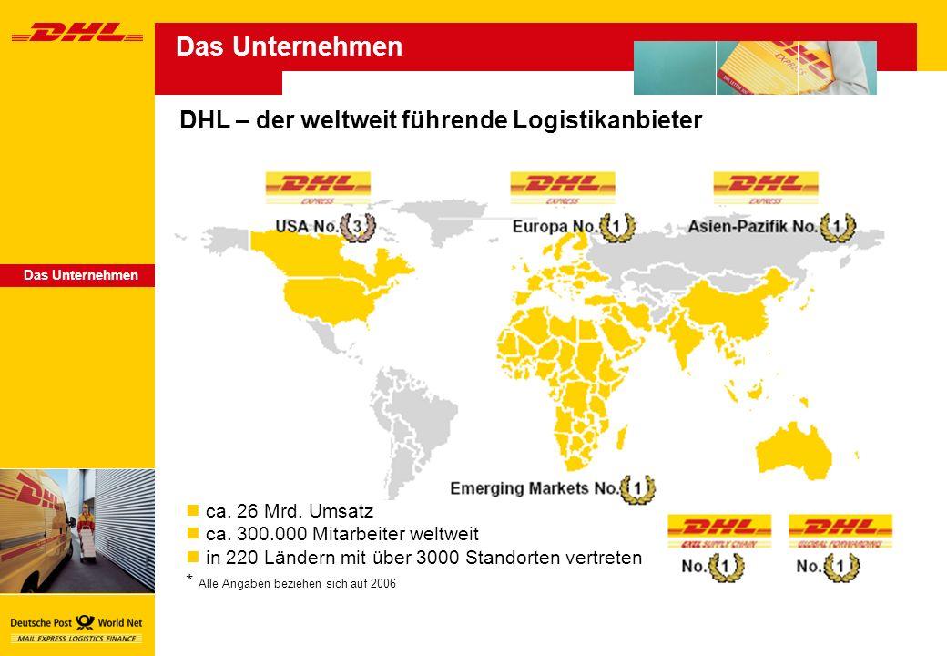 Das Unternehmen DHL – der weltweit führende Logistikanbieter