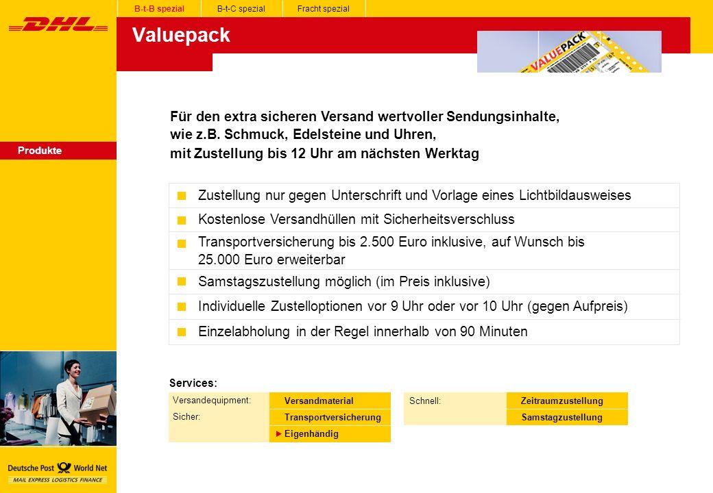 Valuepack Für den extra sicheren Versand wertvoller Sendungsinhalte,