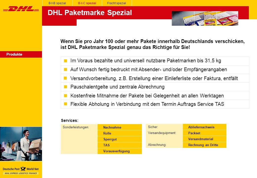 DHL Paketmarke Spezial