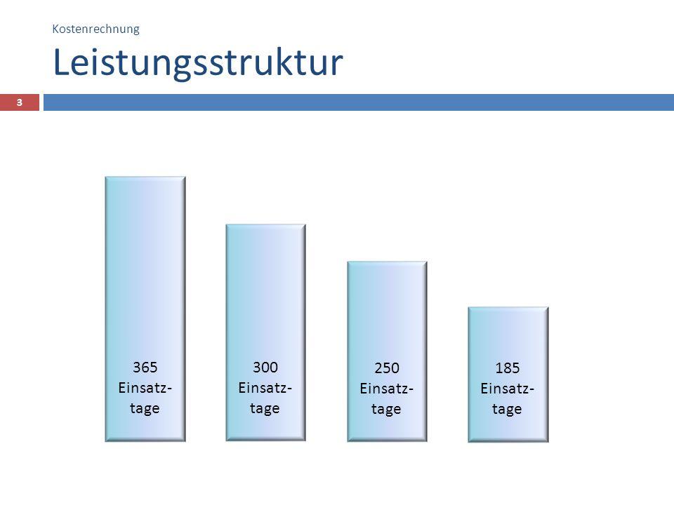 Kostenrechnung Leistungsstruktur