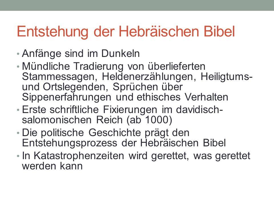 Entstehung der Hebräischen Bibel