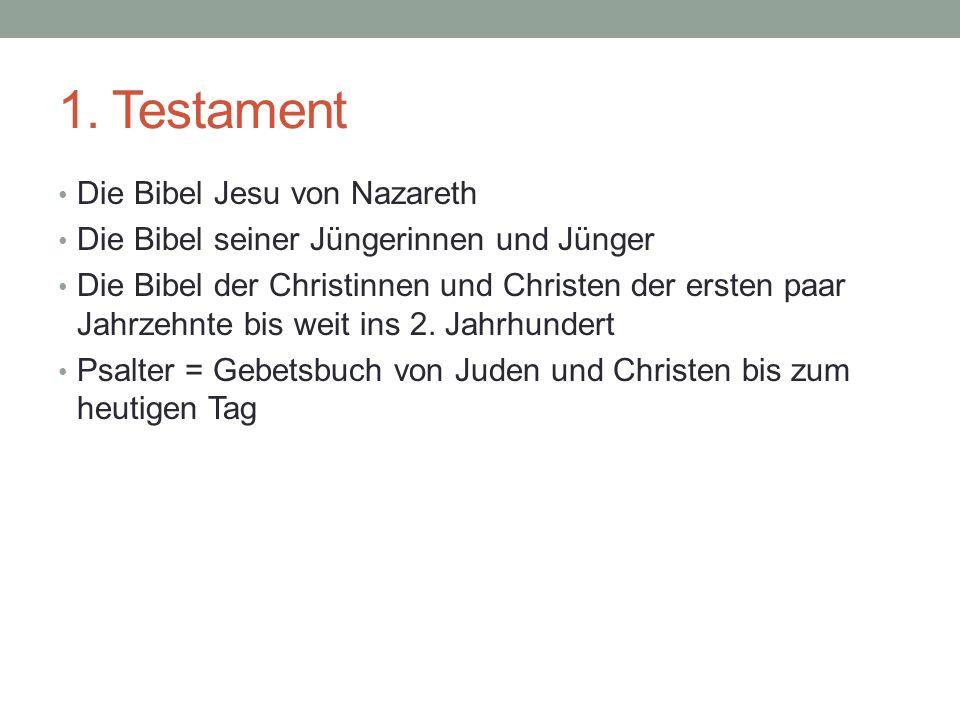 1. Testament Die Bibel Jesu von Nazareth