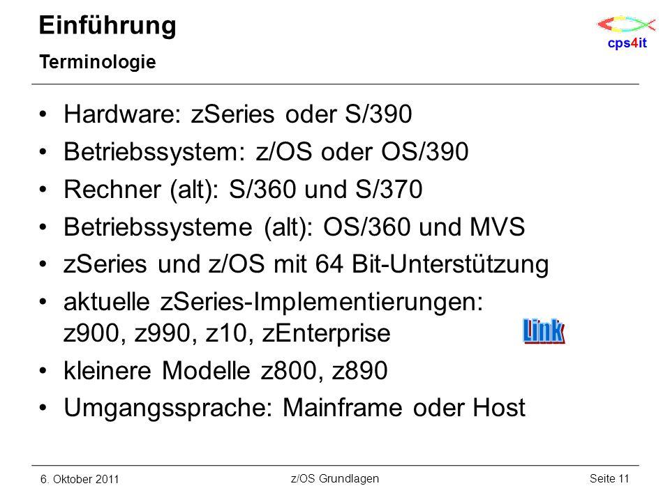 Link Einführung Hardware: zSeries oder S/390