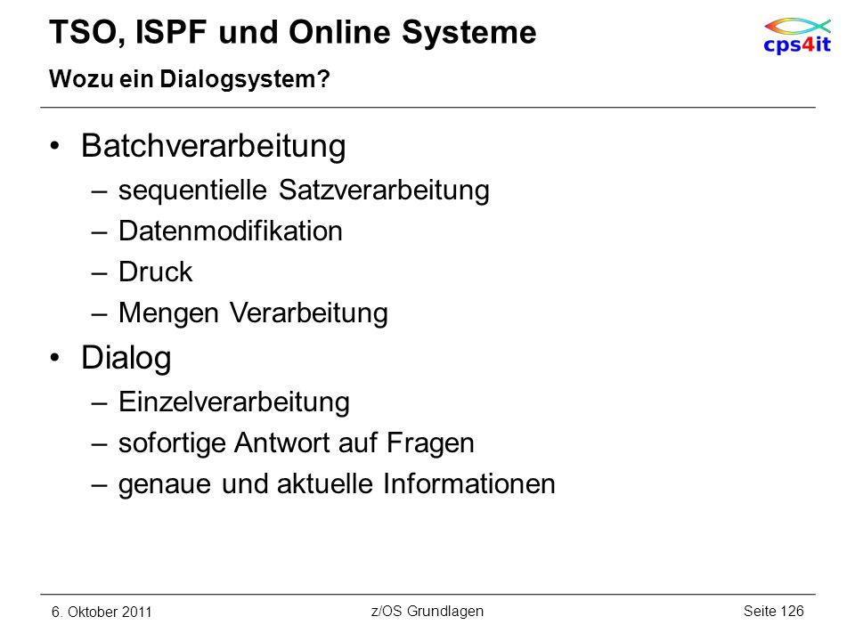 TSO, ISPF und Online Systeme