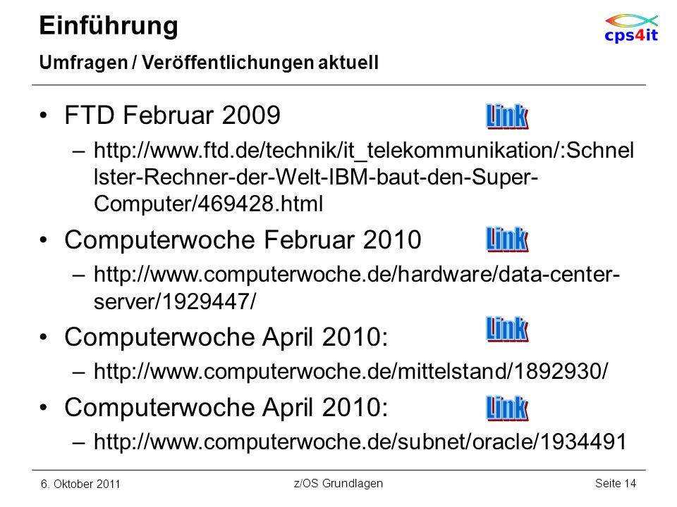 Link Link Link Link Einführung FTD Februar 2009