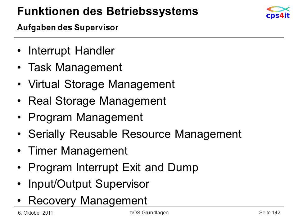 Funktionen des Betriebssystems