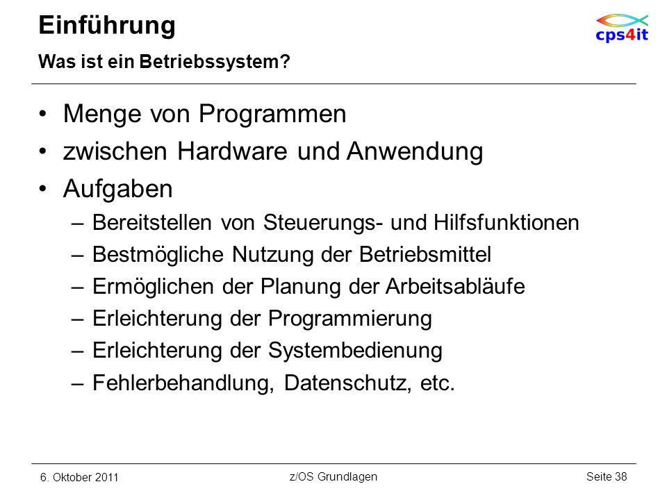 zwischen Hardware und Anwendung Aufgaben