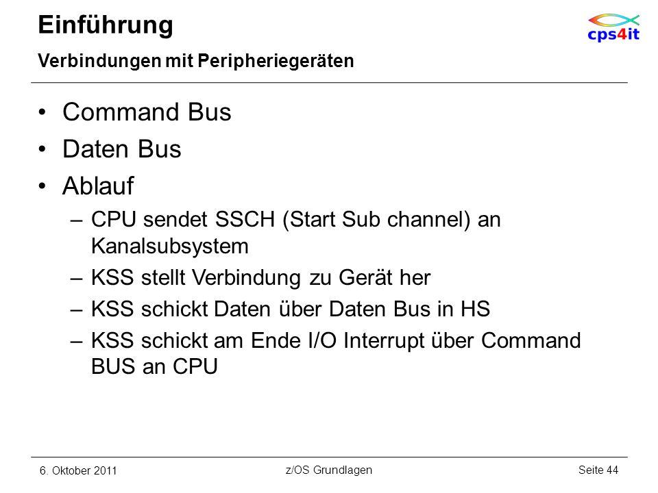 Einführung Command Bus Daten Bus Ablauf