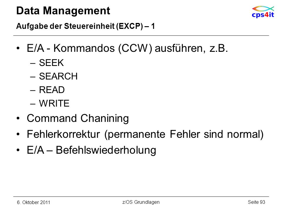 E/A - Kommandos (CCW) ausführen, z.B.