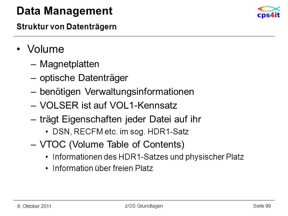 Data Management Volume Magnetplatten optische Datenträger
