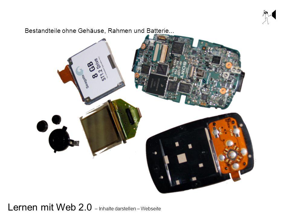 Bestandteile ohne Gehäuse, Rahmen und Batterie...