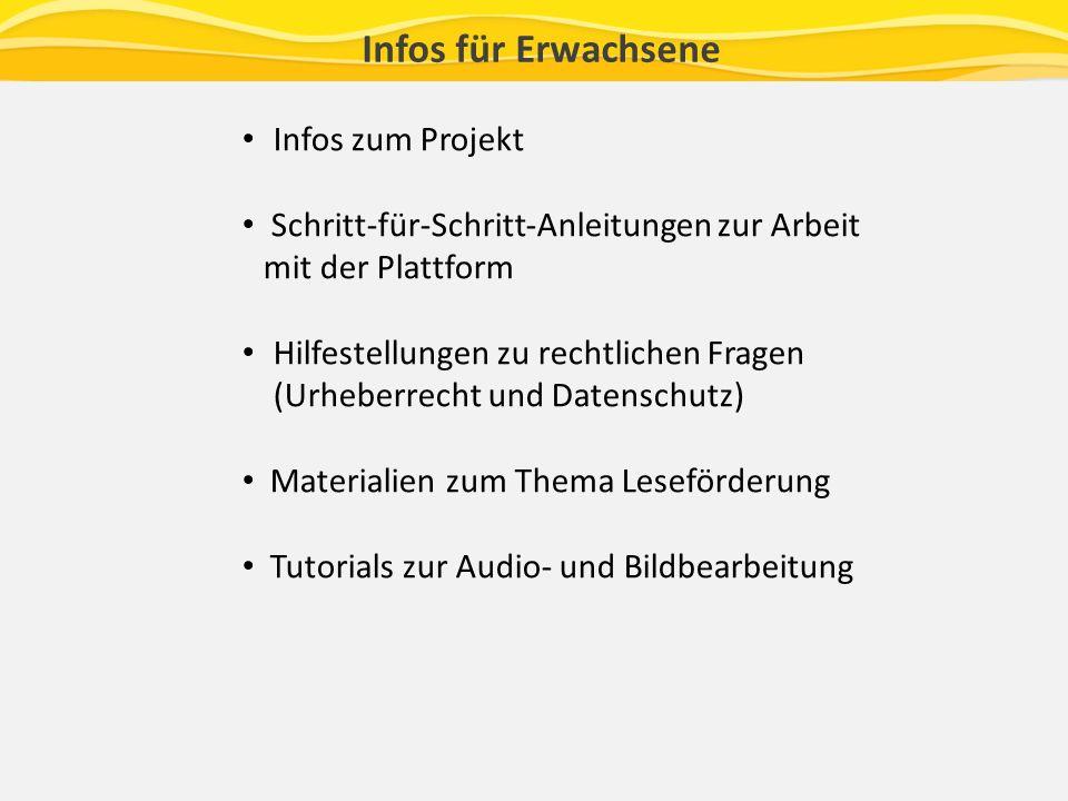 Infos für Erwachsene Infos zum Projekt