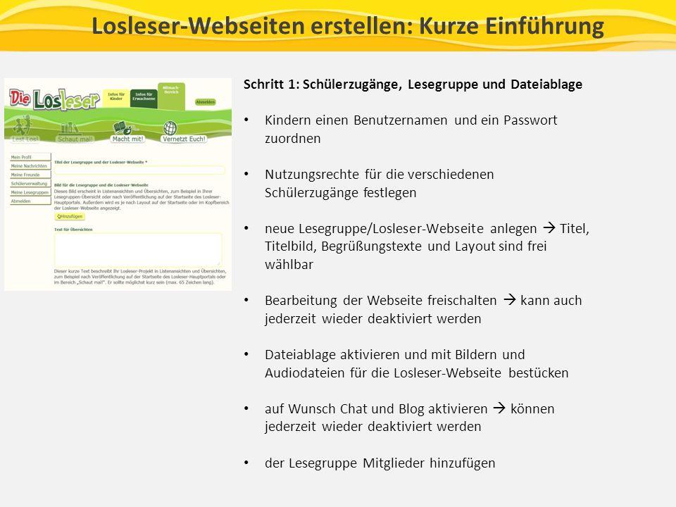 Losleser-Webseiten erstellen: Kurze Einführung