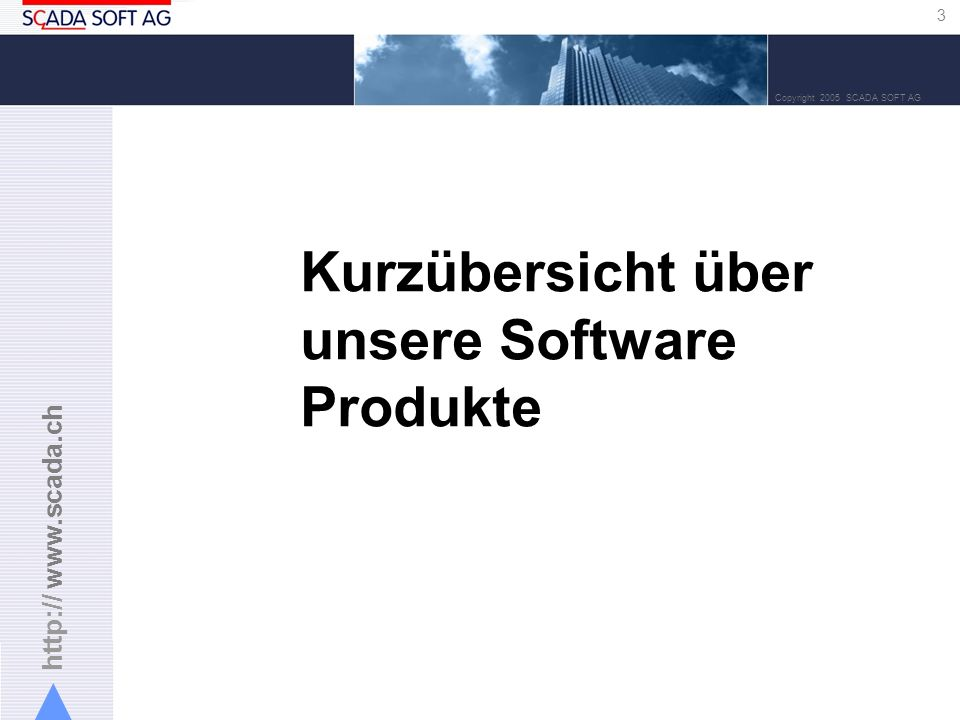 Kurzübersicht über unsere Software Produkte