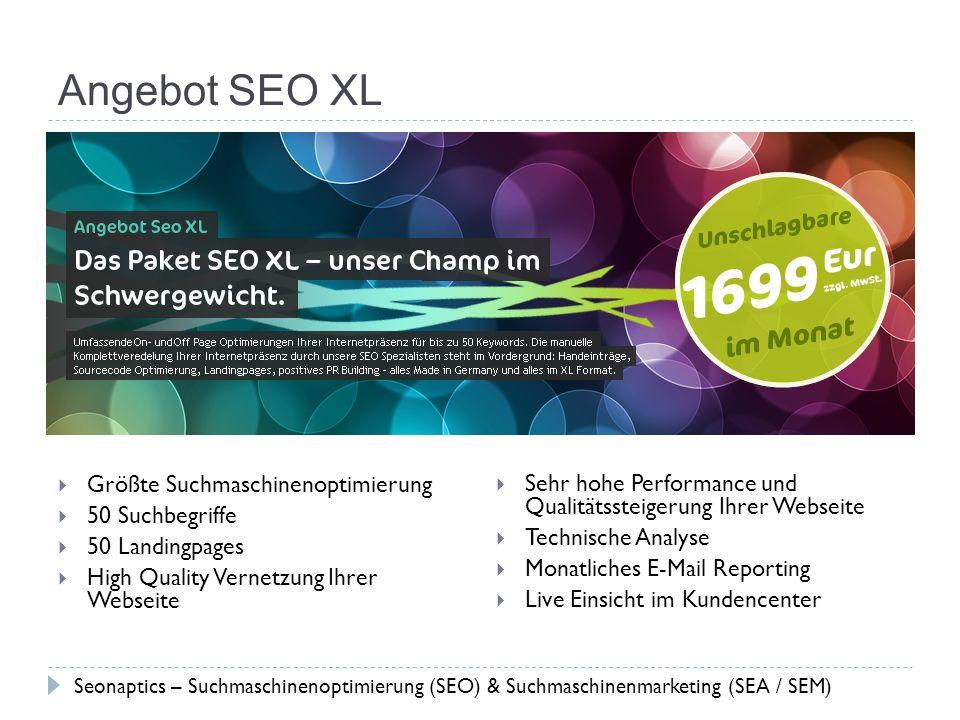 Angebot SEO XL Größte Suchmaschinenoptimierung