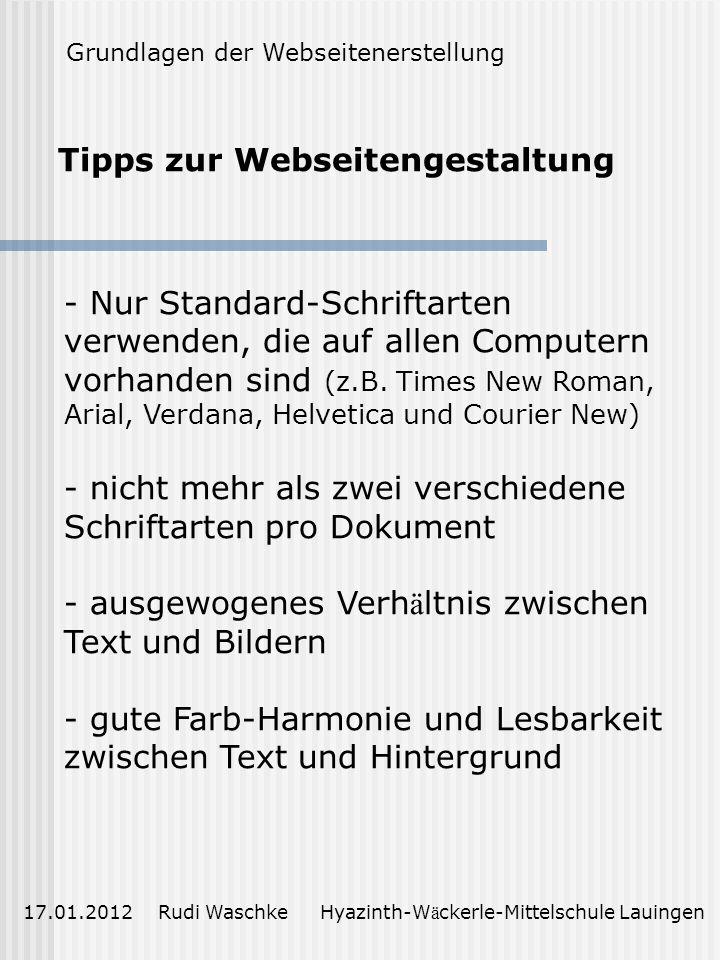 Tipps zur Webseitengestaltung