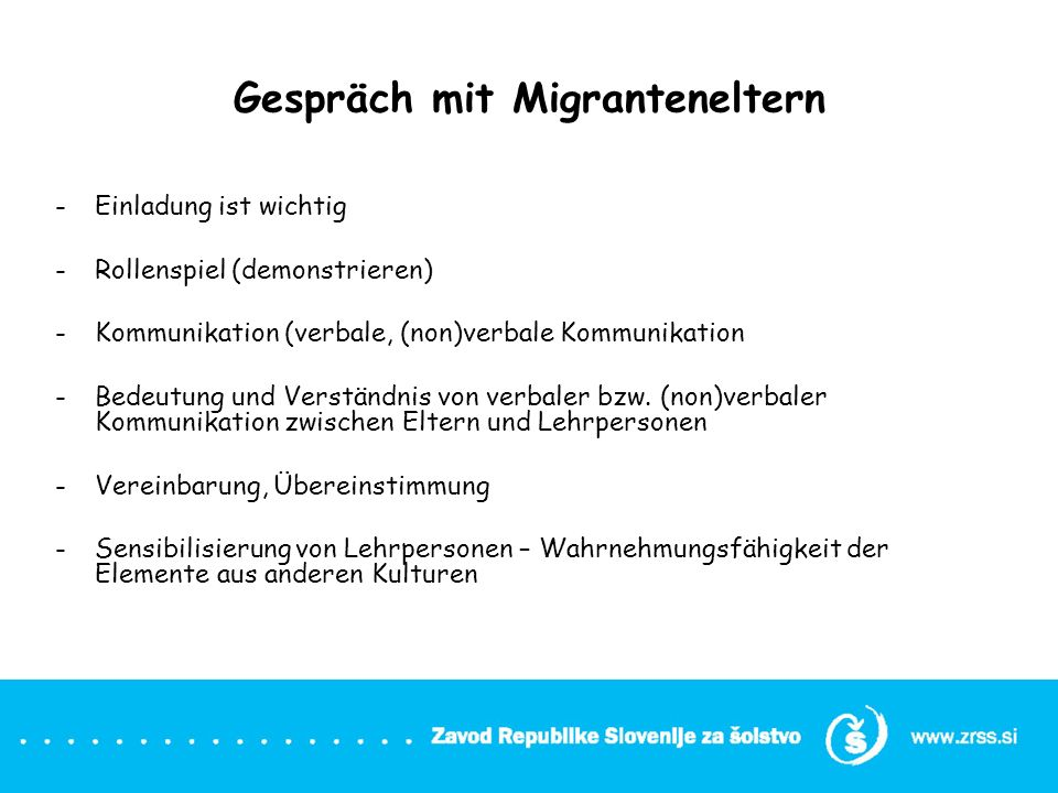 Gespräch mit Migranteneltern