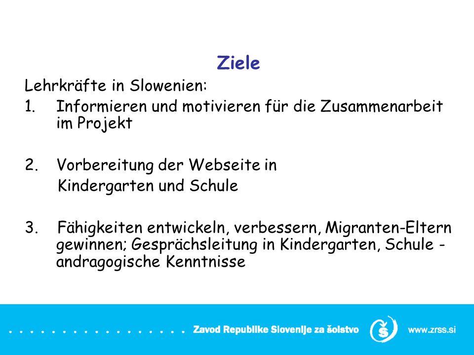Ziele Lehrkräfte in Slowenien: