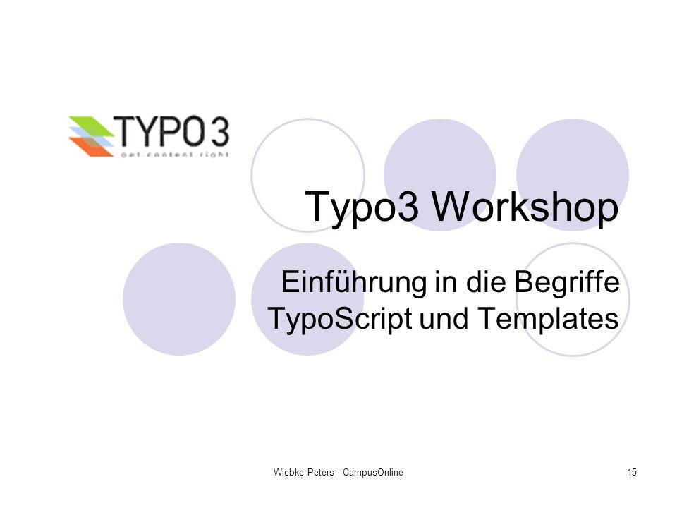 Einführung in die Begriffe TypoScript und Templates