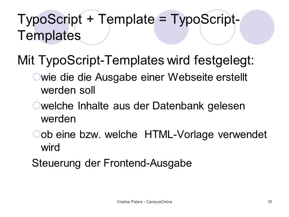 TypoScript + Template = TypoScript-Templates